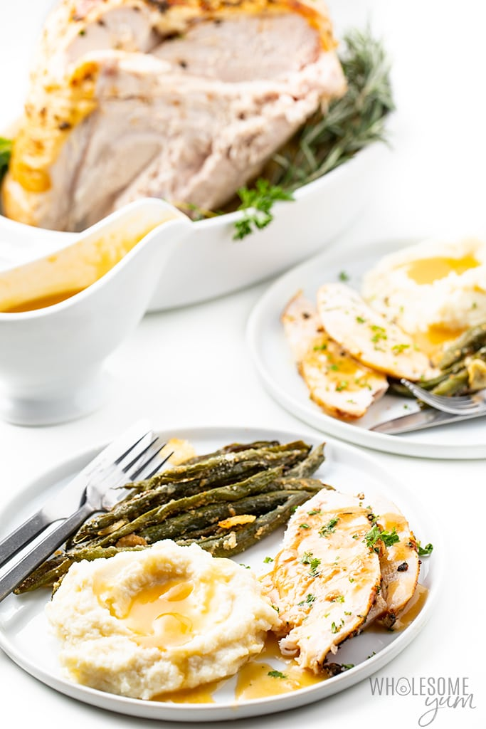 slow cooker turkey breast with sides