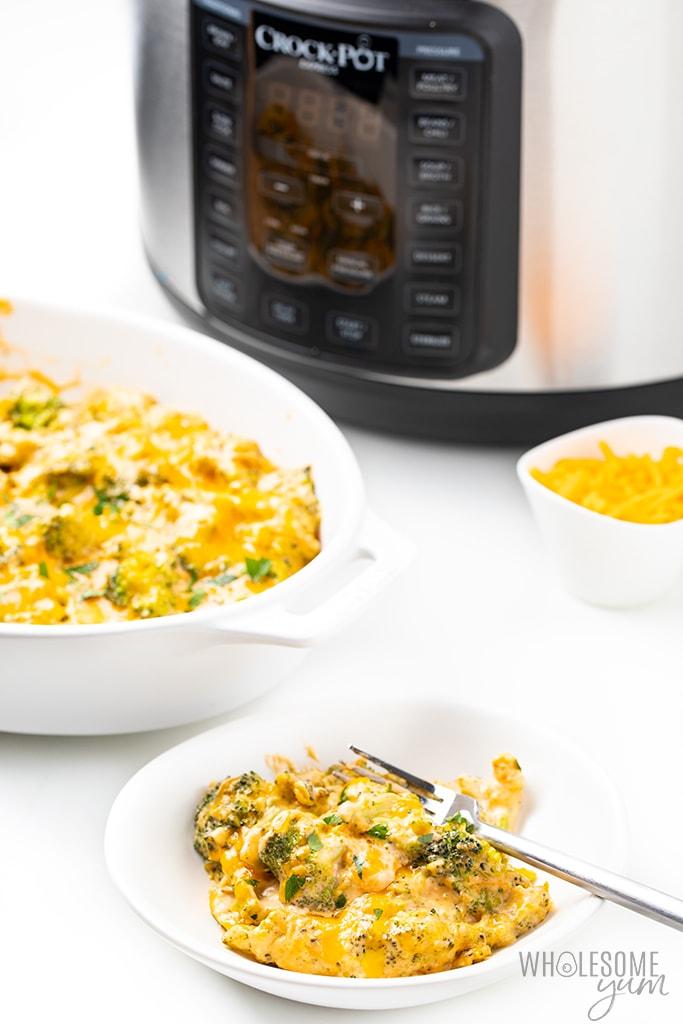 broccoli casserole in pressure cooker