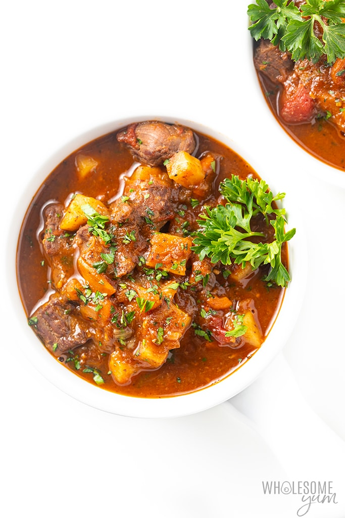 bowl of healthy beef stew