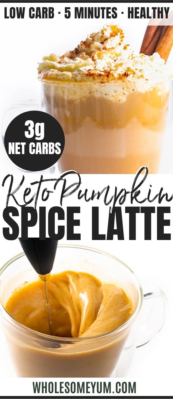 Sugar-Free Pumpkin Spice Latte - Pinterest image
