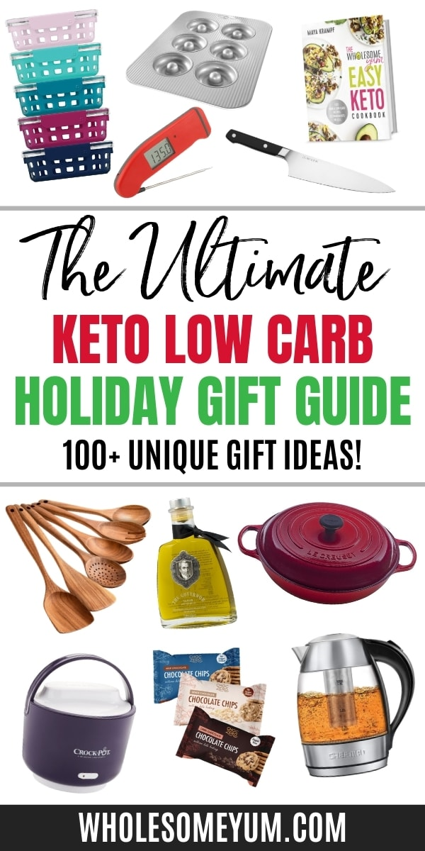 Find over 100 keto gifts in this ultimate low carb gift guide! Get unique ideas for everyone on your list, for every budget.