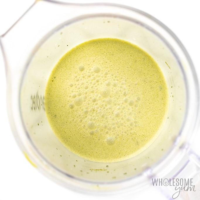 ingredients for matcha frappe in blender