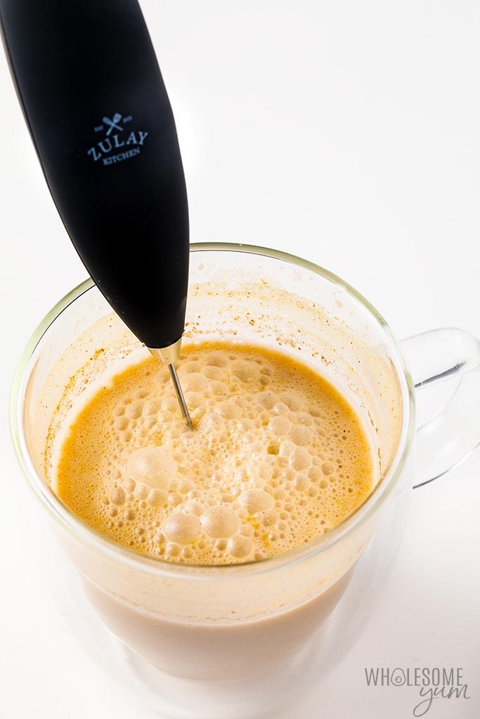 Process of making a keto pumpkin spice latte