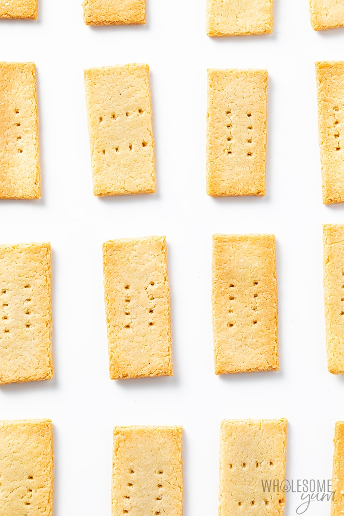 Paleo crackers on a white background