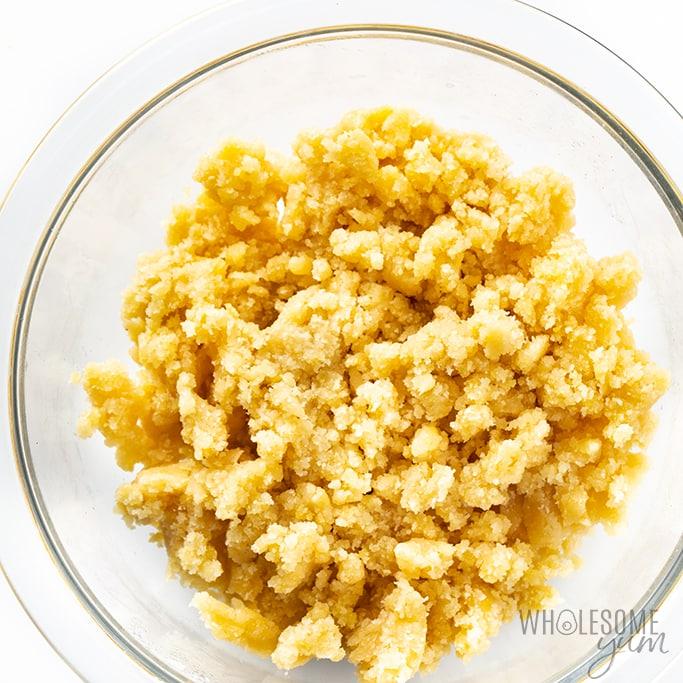 Almond flour cracker dough
