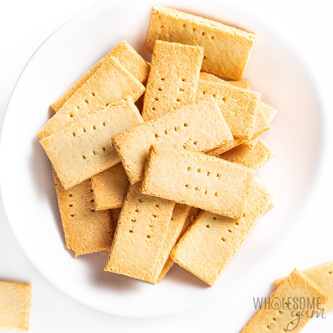 2 Ingredient Keto Low Carb Crackers Recipe Almond Flour Wholesome Yum