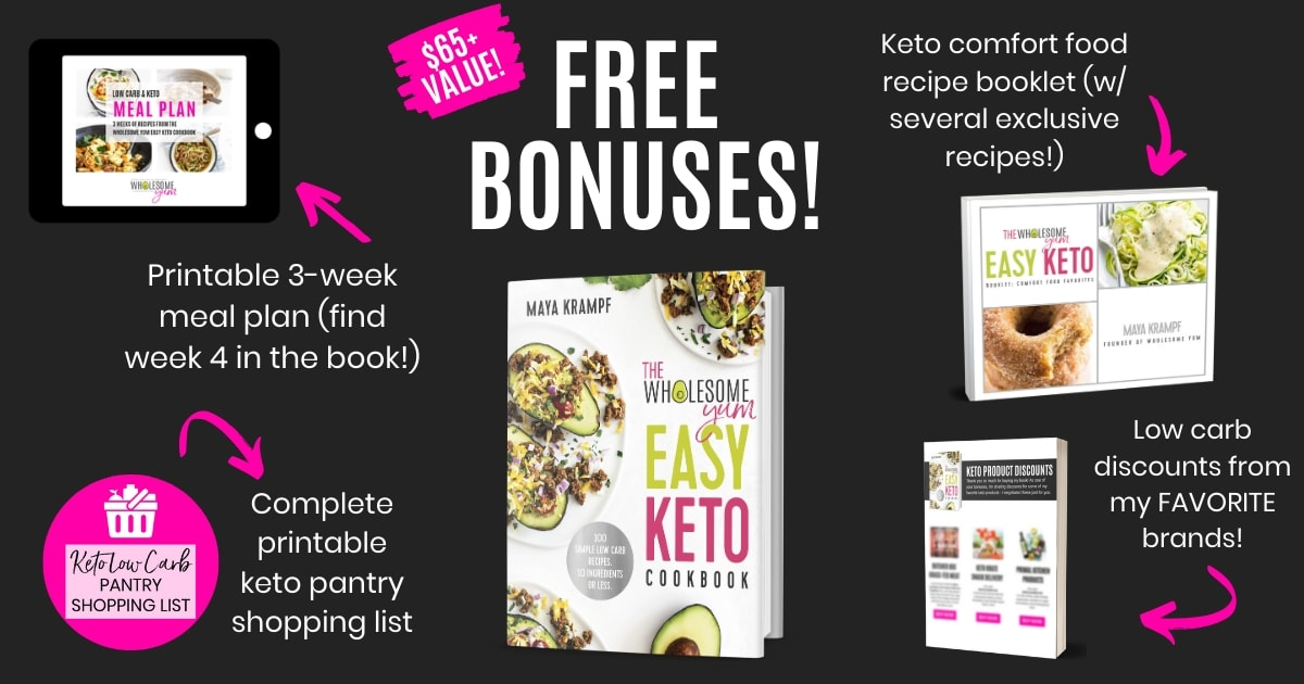 Easy Keto Cookbook Bonuses