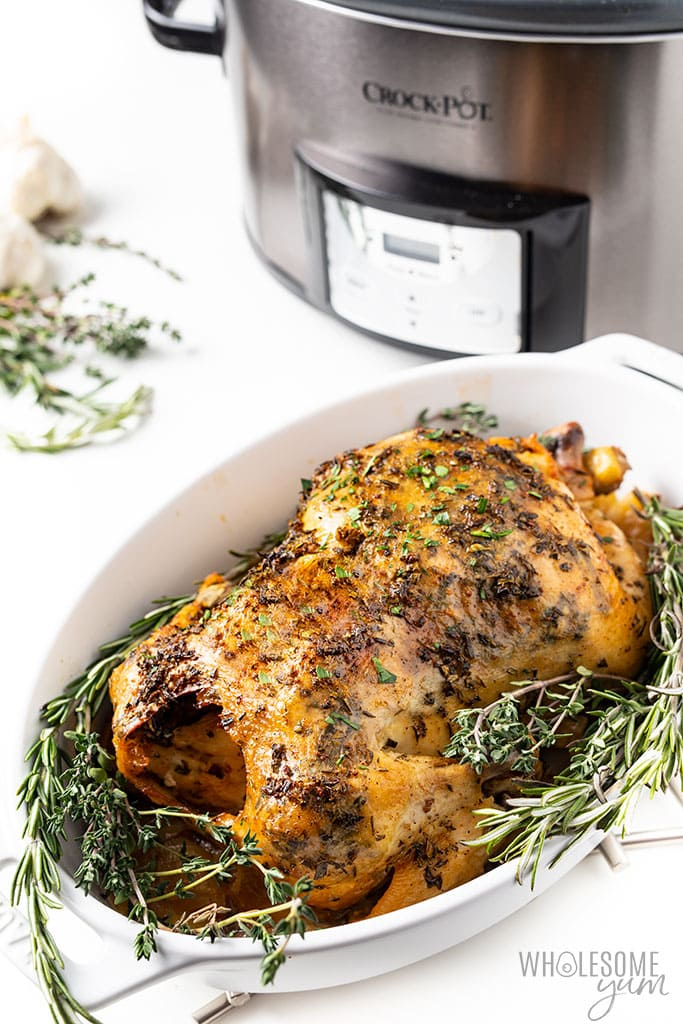 whole chicken cooked in Crock-pot