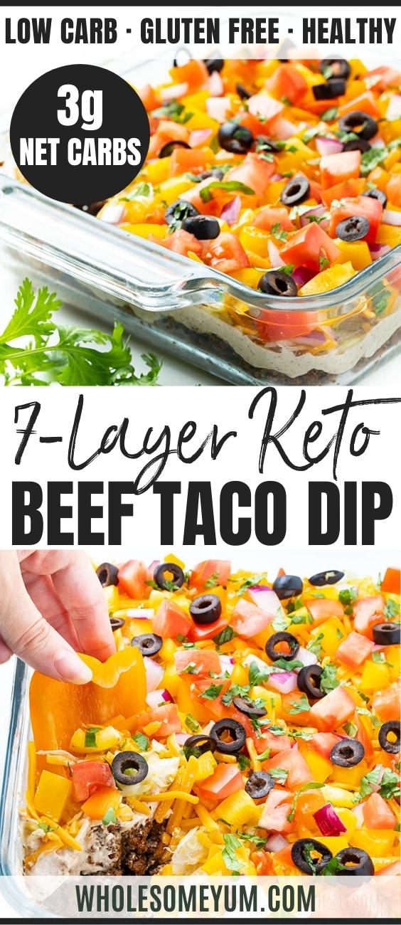 layered taco dip recipe - pinterest
