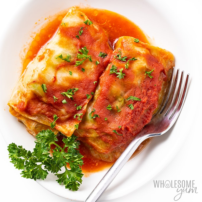 Low Carb Keto Cabbage Rolls Recipe Without Rice Wholesome Yum