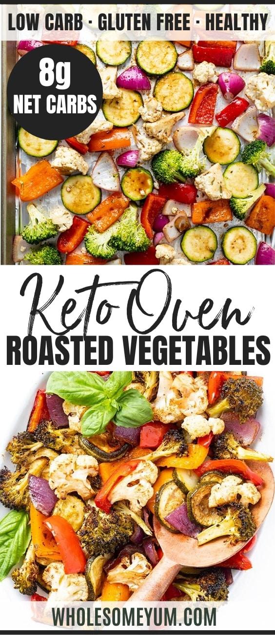 keto oven roasted vegetables - pinterest
