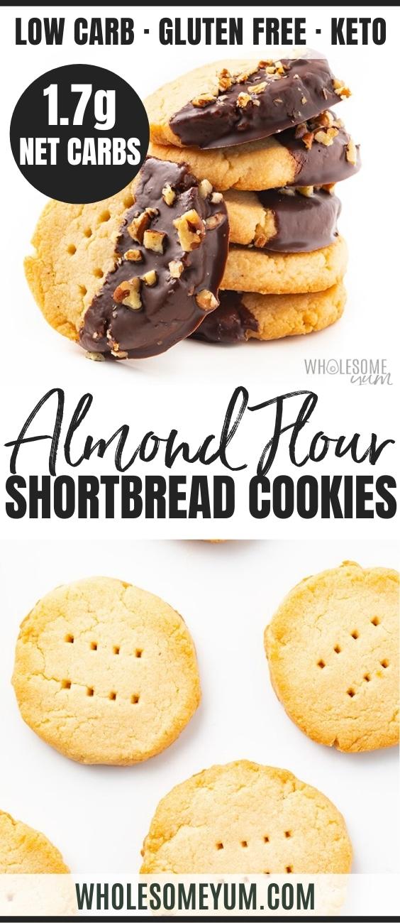 Keto Almond Flour Shortbread Cookies