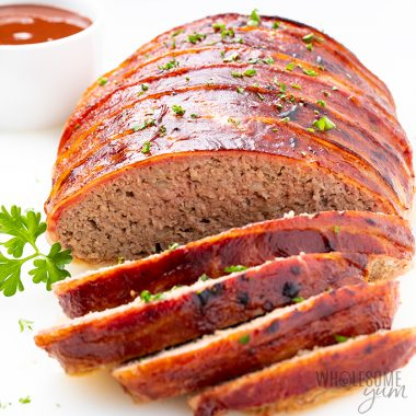 sliced ground turkey meatloaf Detail: bacon-wrapped-low-carb-keto-turkey-meatloaf-recipe-8