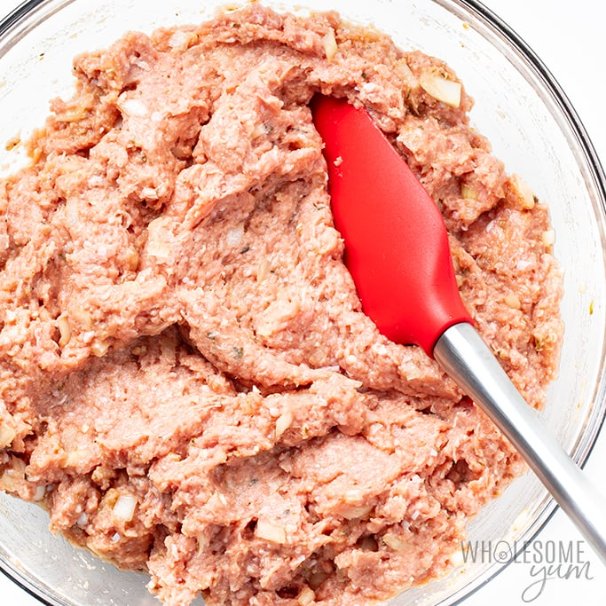 ground turkey meatloaf mix in bowl