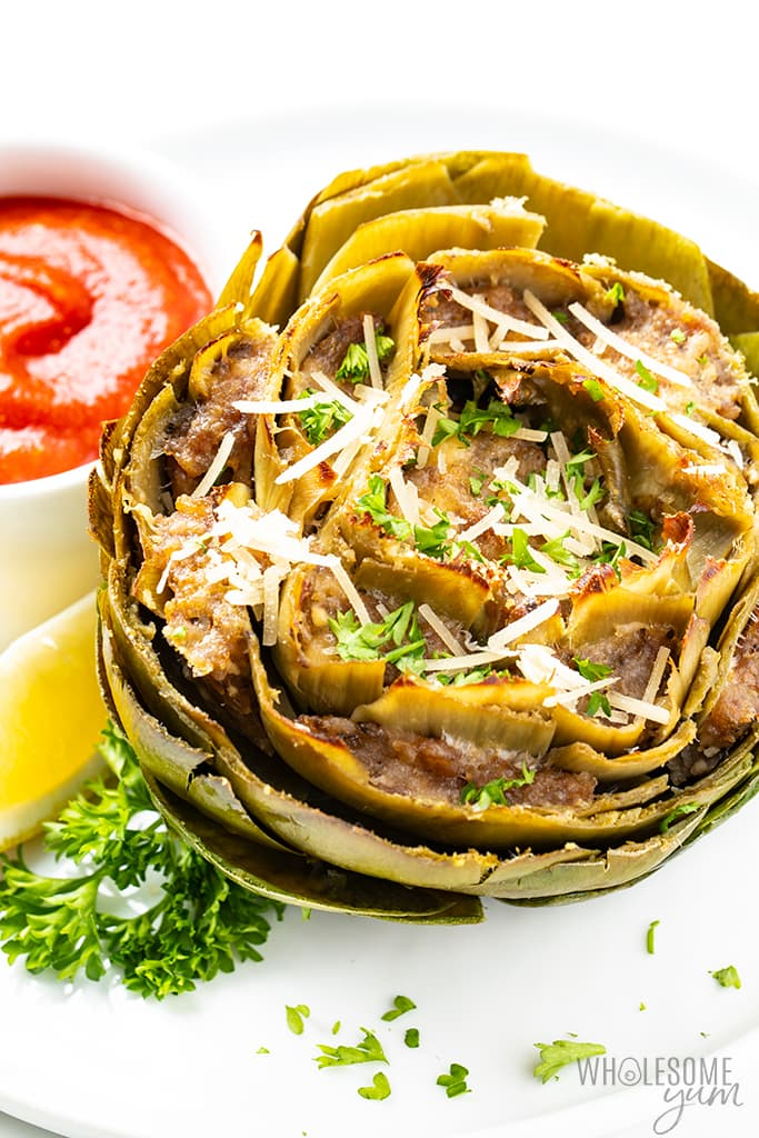 stuffed artichoke recipe with marinara sauce