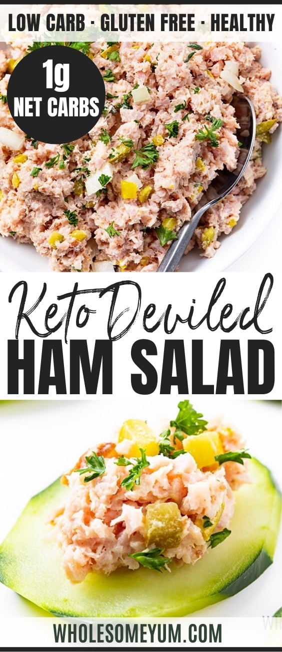 Keto Deviled Ham Salad Recipe - Pinterest Image