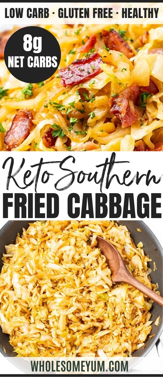 how to make fried cabbage - Pinterest Image