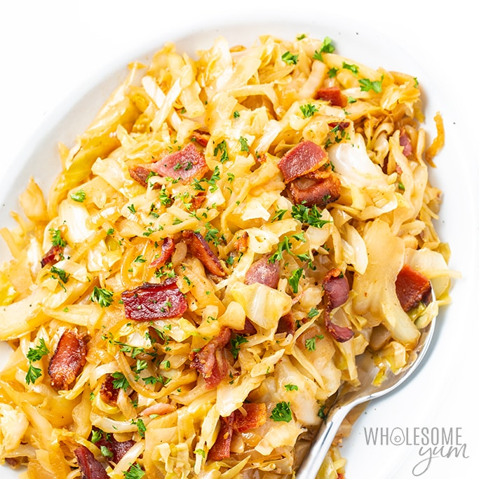 Keto Southern Fried Cabbage Recipe With Bacon Wholesome Yum