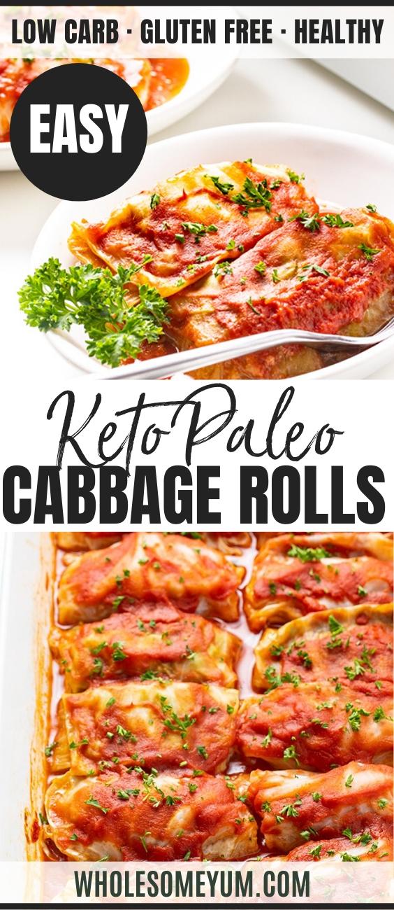 keto cabbage rolls - pinterest