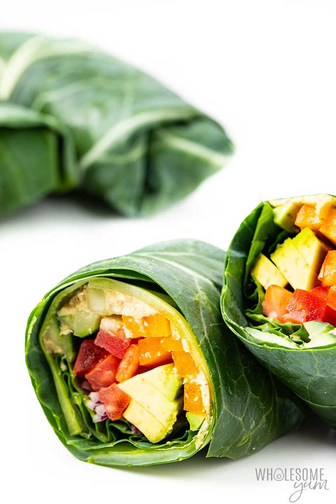 2 vegan collard wraps
