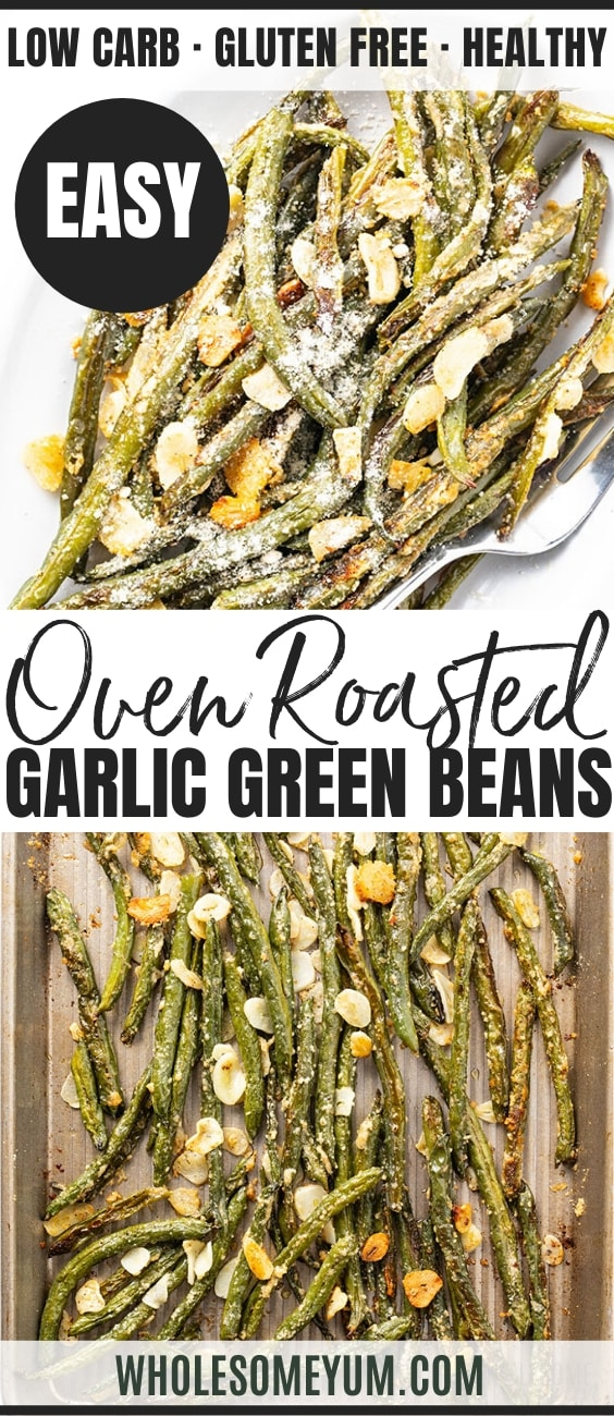 how to roast green beans - pinterest