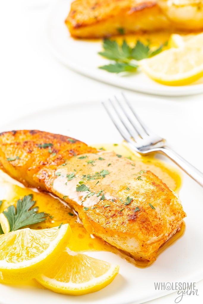 halibut with lemon butter sauce