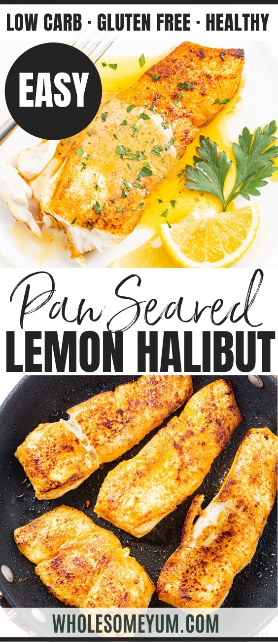 pan fried halibut with lemon butter sauce - pinterest