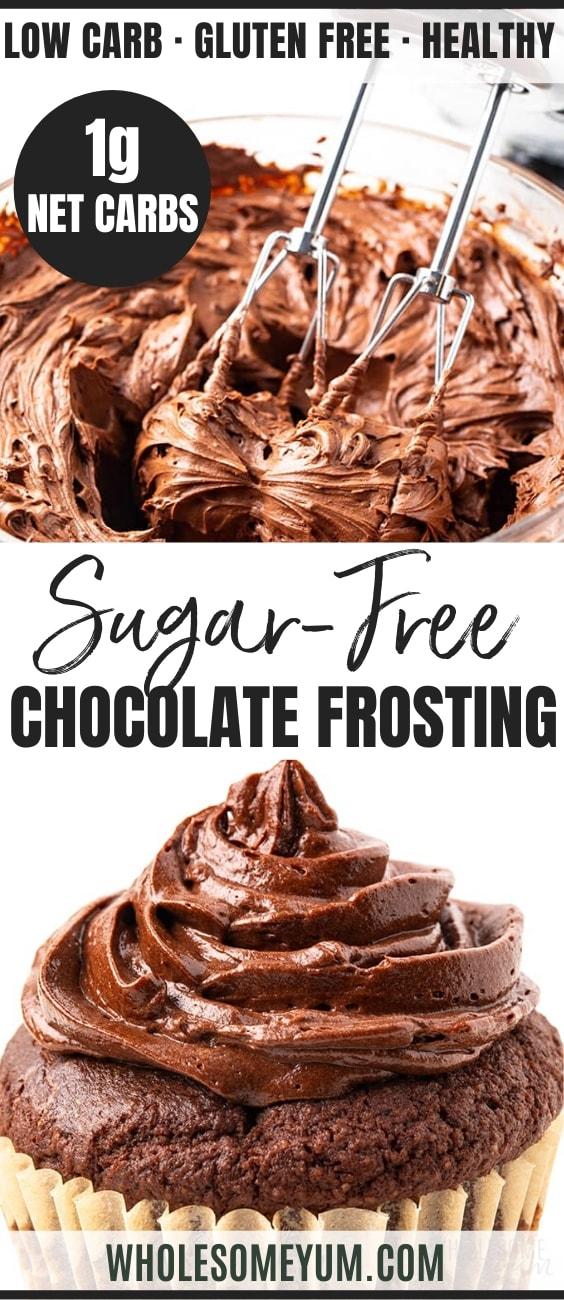 Keto Sugar Free Chocolate Frosting - pinterest
