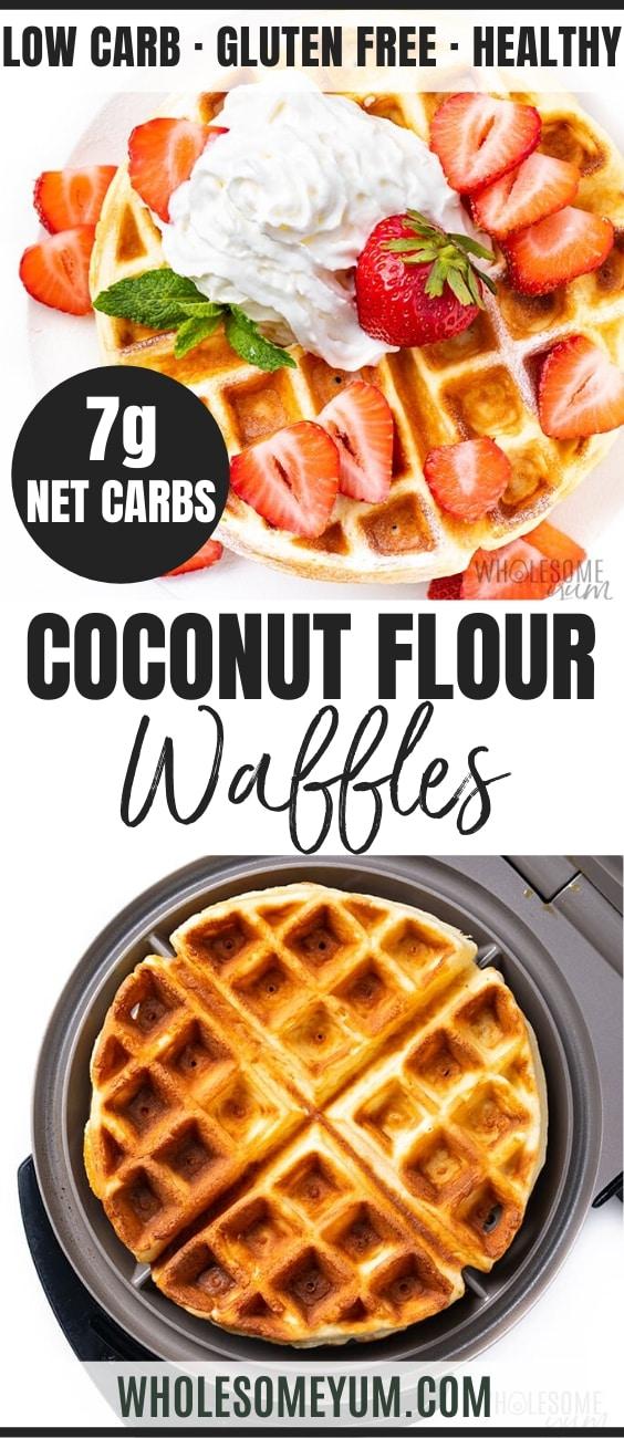 keto waffles with coconut flour - pinterest