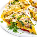 slices of vegetable frittata