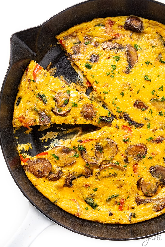 slices of cast iron frittata