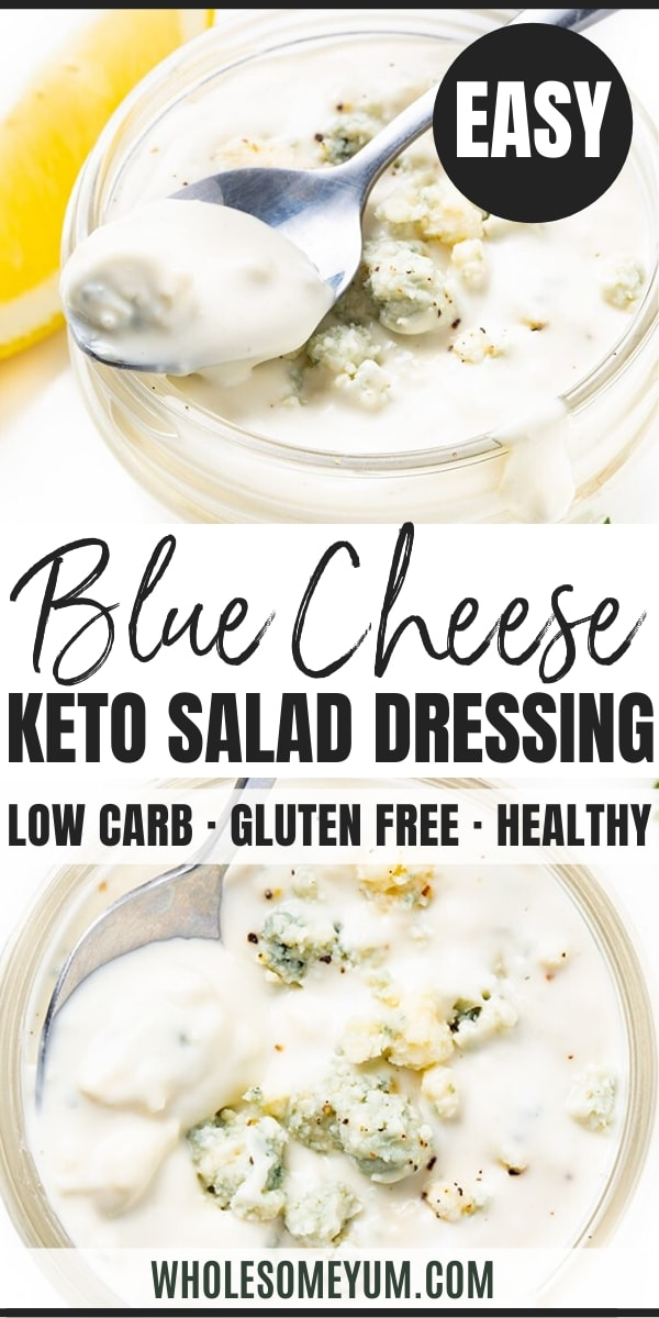 how to make blue cheese dressing - pinterest