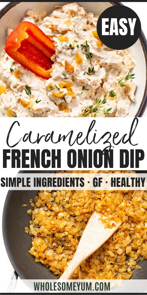 keto French onion dip recipe - pinterest