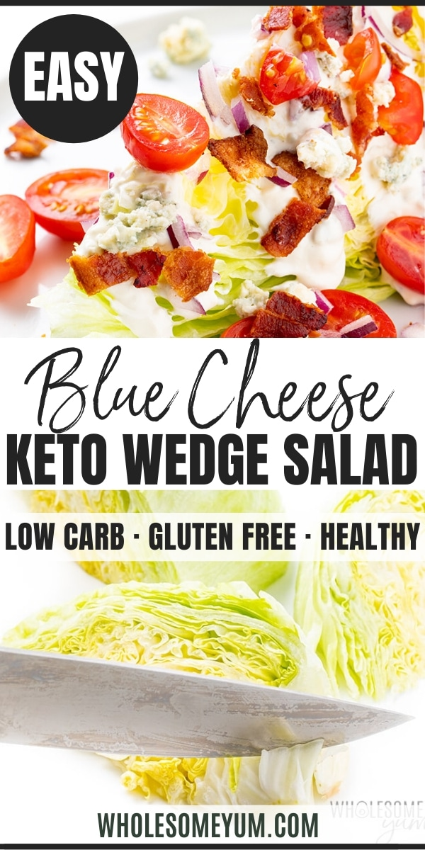 how to make a wedge salad - pinterest