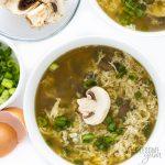 bowl of keto egg drop soup