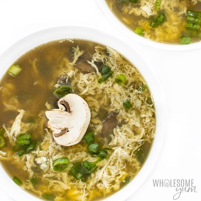 bowl of homemade egg drop soup