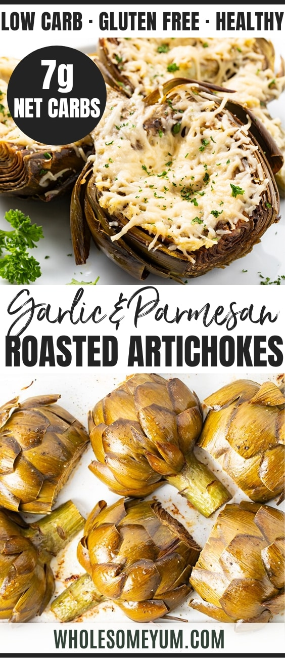 how to roast artichokes - pinterest