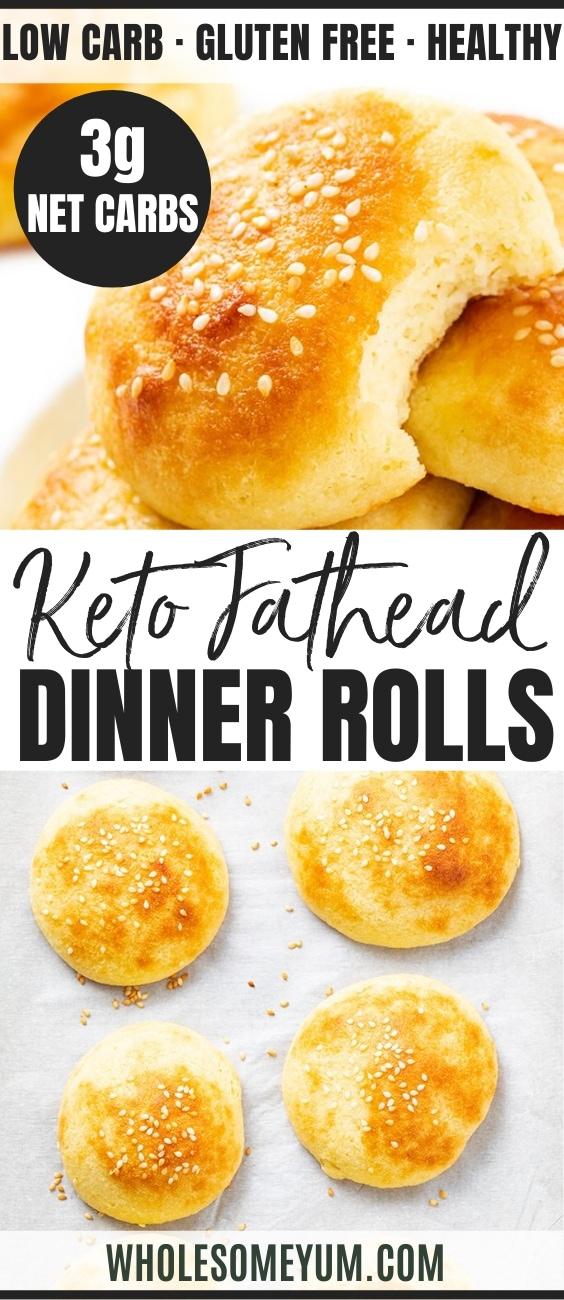 keto fathead rolls - pinterest