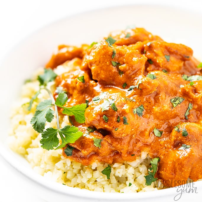 Easy Keto Butter Chicken Recipe Wholesome Yum