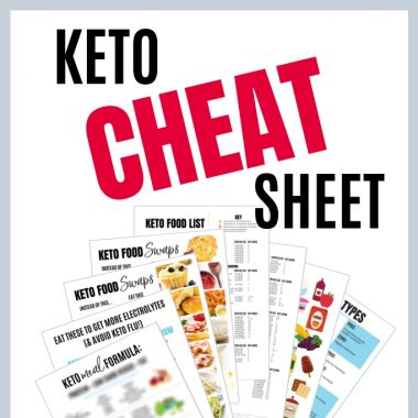 Keto Cheat Sheet Printable PDF