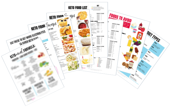 Keto cheat sheet pages