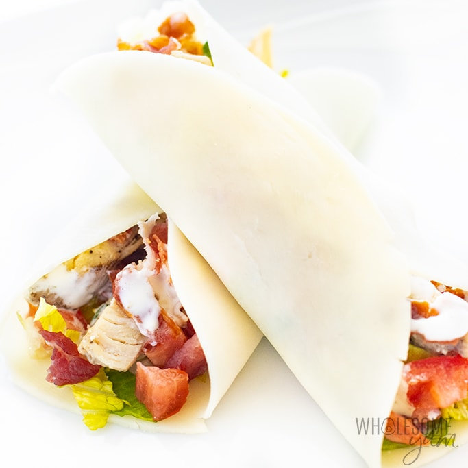 chicken bacon ranch in cheese wrap
