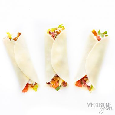 Keto Cheese Wraps Recipe: Chicken Bacon Ranch Wraps