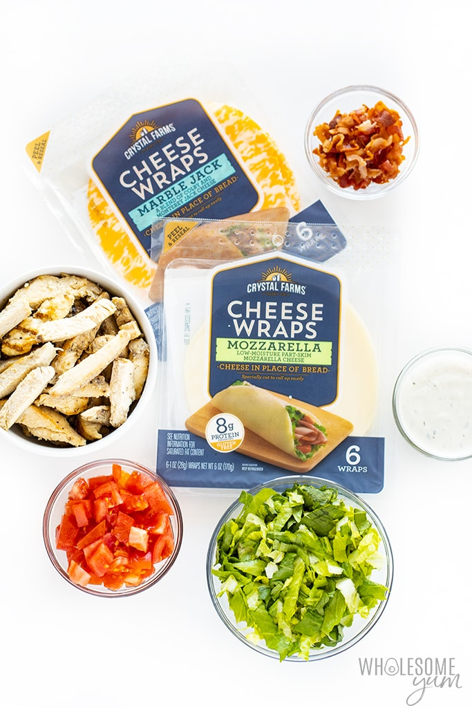 keto cheese wraps with filling ideas