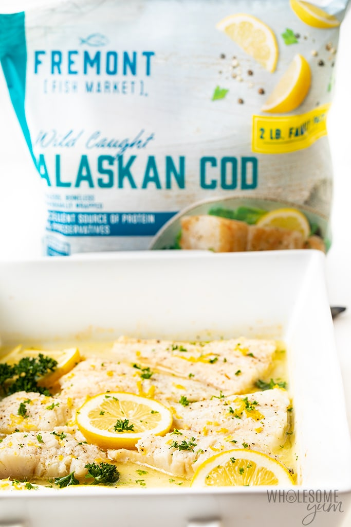 Lemon Baked Cod Fish Recipe Wholesome Yum
