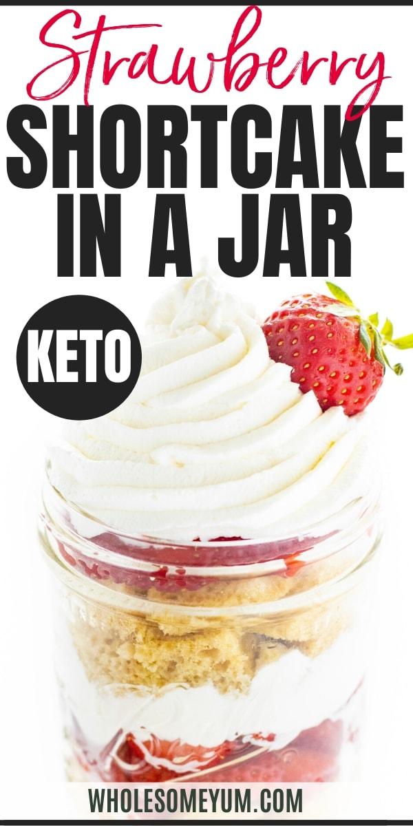 Keto strawberry shortcake recipe Pinterest image