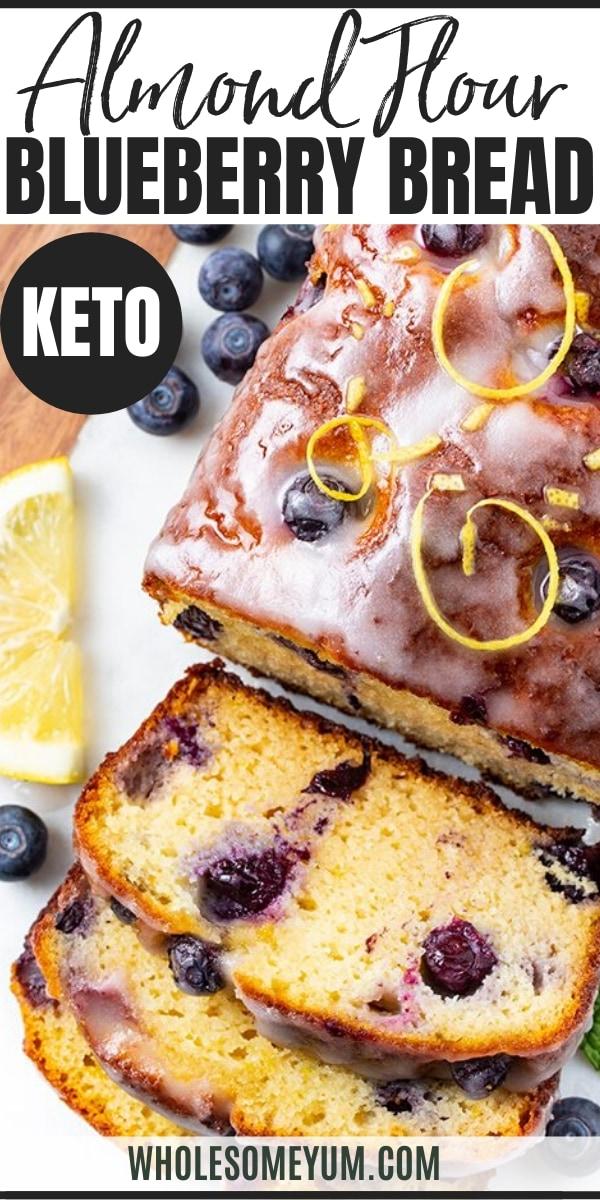 almond flour blueberry bread - pinterest