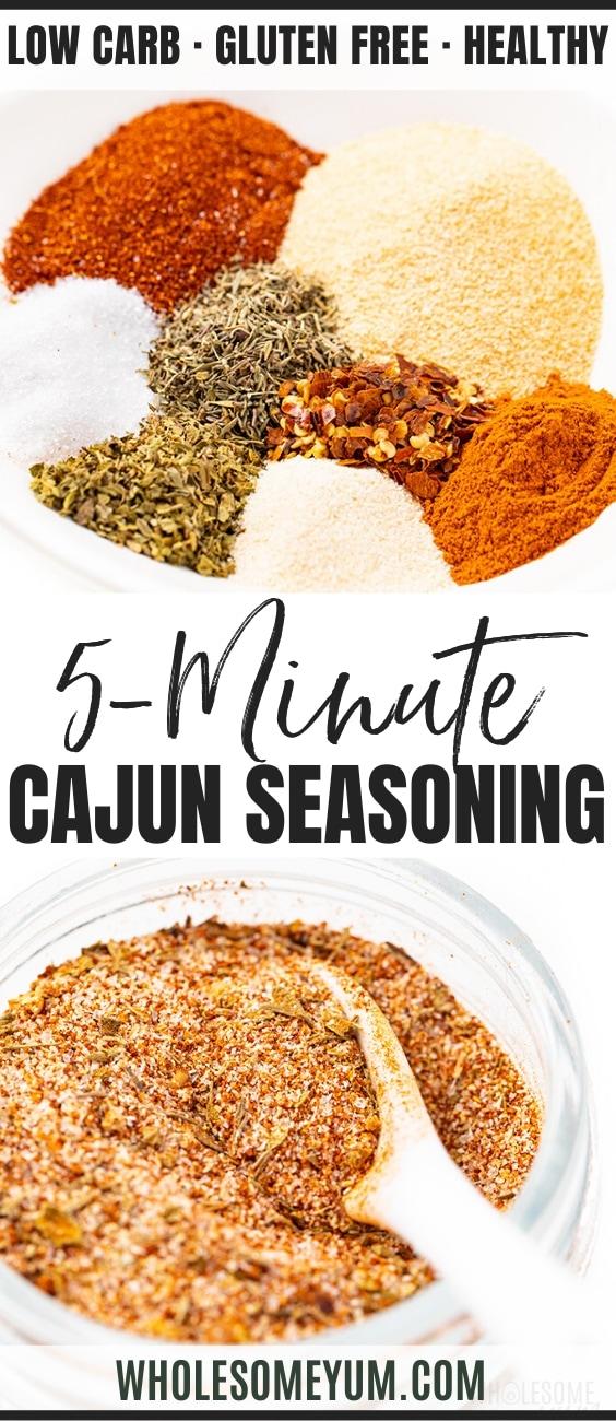 how to make cajun seasoning - pinterest