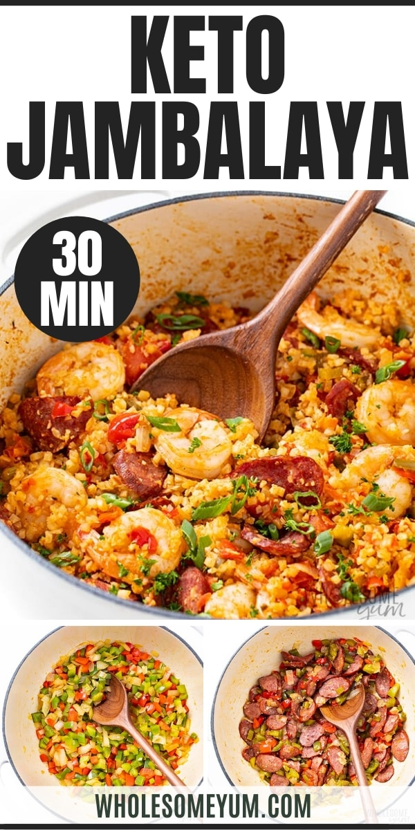 keto jambalaya recipe - pinterest