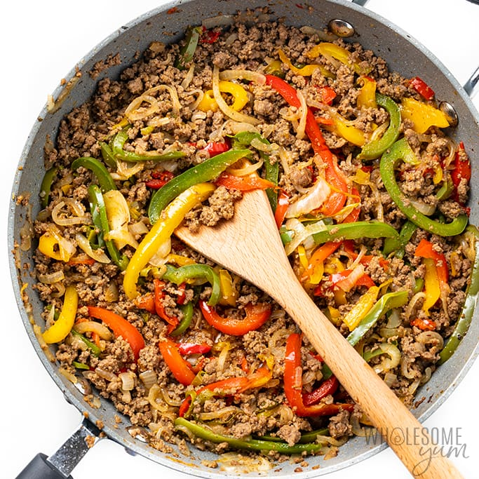 beef and veggies for philly cheesesteak casserole recipe